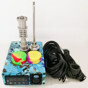 Unique Enail Kit for Dabbing - PID Temperature Controller with 2-Grade Titanium Nail