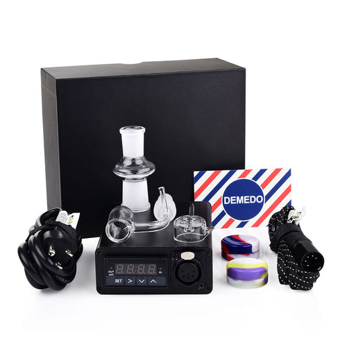 4 in 1 Enail Dabs Rig with Quartz Nail, PID Temperature Controller, 14/18 mm Male and Female Joint