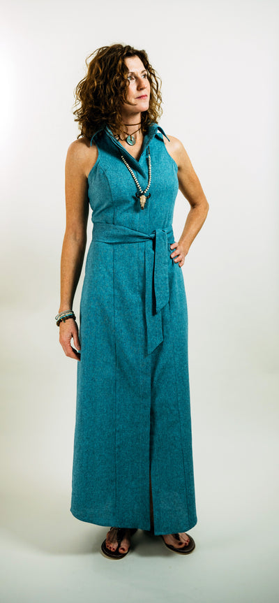 CANYON DRESS IN TURQUOISE