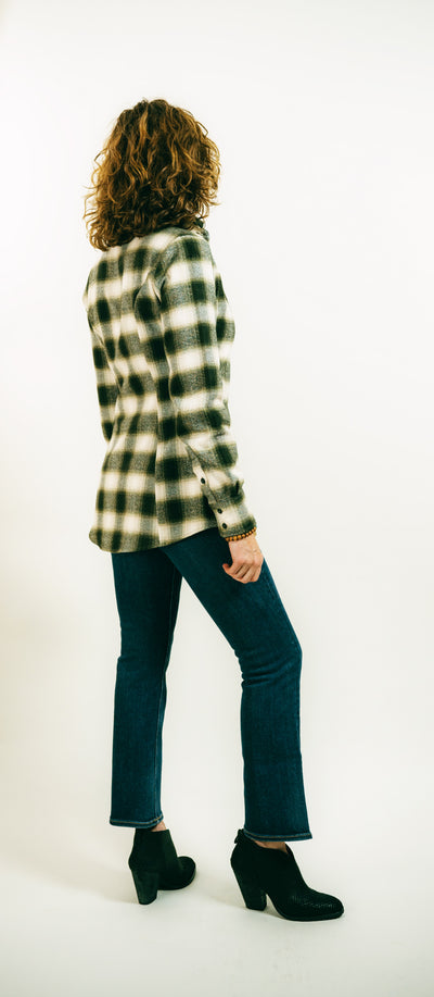 FOREVER FLANNEL IN OLIVE