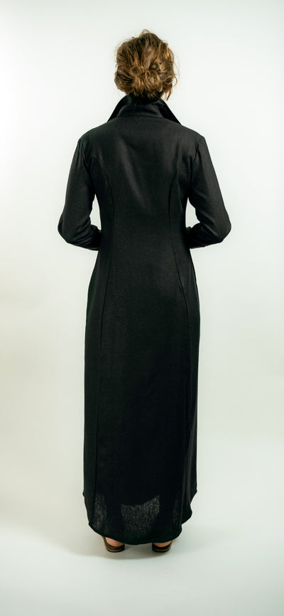 CANYON DRESS IN ONYX