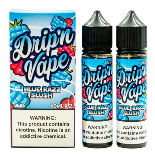 Drip N Vape - Blue Razz Slush eLiquid - 2x60ml