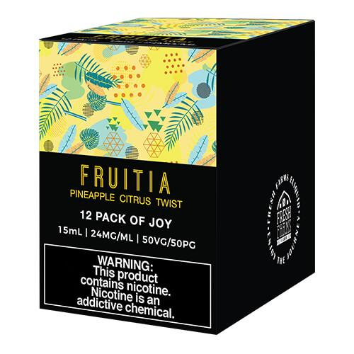 Fruitia eJuice SALTS - Pineapple Citrus Twist - 12x15ml