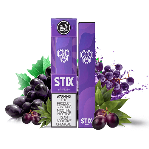 Puff STIX - Disposable Vape Device - Case of Grape (10 Pack)