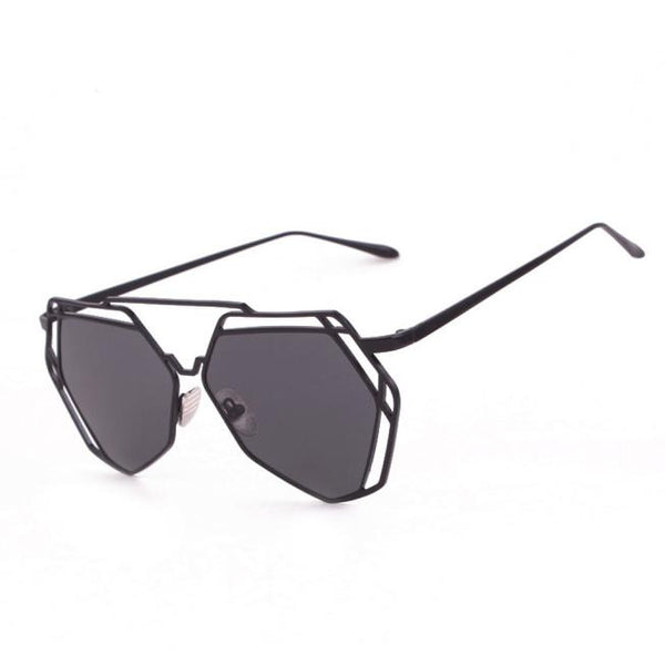Geometry Design Metal Frame Mirror Sunglasses