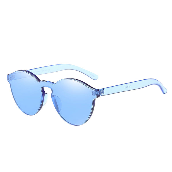 Women's Fashion Candy Coloured Clear Frame Cat Eye Sunglasses