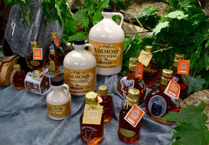 Various containers of maple syrup