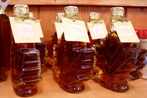 Maple Leaf Glass Bottle Maple Syrup