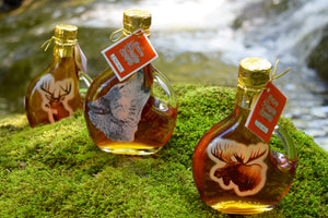 Deer Wolf Moose 250ml Glass Bottle Maple Syrup