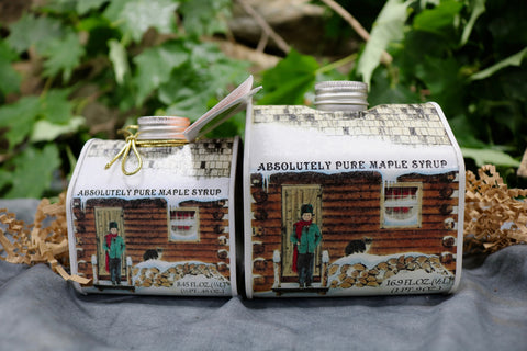 Log Cabin Tin Maple Syrup