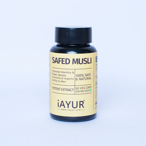 Ayurvedic Medicine - Safed Musli Double Strength - iAYUR