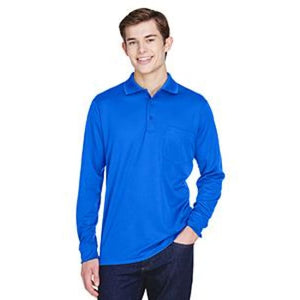 Adult Pinnacle Performance Long-Sleeve Piqué Polo With Pocket - Small / True Royal - Polo
