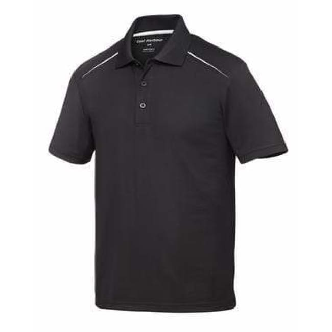 Coal Harbour Snag Resistant Contrast Inset Sport Shirt - Small / Black/white - Sport Shirt