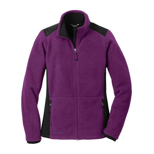 Eddie Bauer Sherpa Fleece Full Zip Jacket - Xsmall / Concorde Purple/grey Steel / Male - Outerwear
