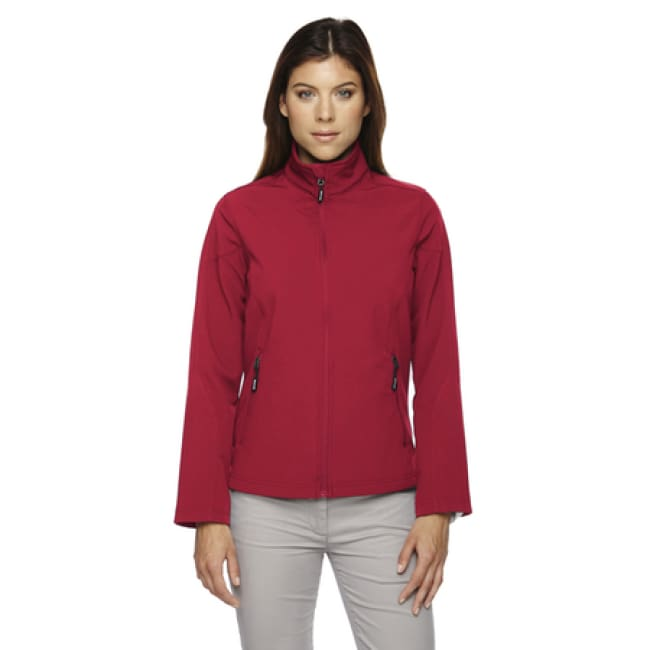Ladies Cruise Two-Layer Fleece Bonded Soft Shell Jacket - Small / Classic Red - Outerwear