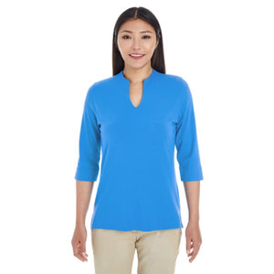 Ladies Perfect Fit Tailored Open Neckline Top - Shirt
