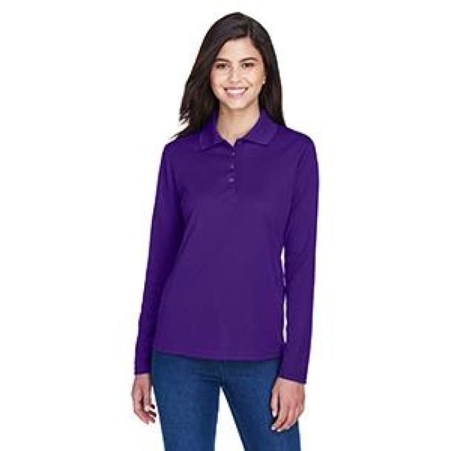 Ladies Pinnacle Performance Long-Sleeve Piqué Polo - Polo