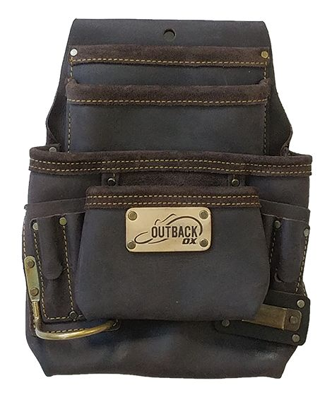 Ox Tools Pro 10-Pocket Tool/ Fastener Pouch - Oil-Tanned Leather OX-P263701 - Timothy's Toolbox