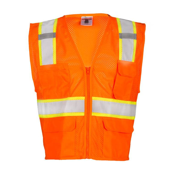 ML Kishigo 1196 Class 2 Ultra-Cool 6-Pocket Safety Vest - Orange - Timothy's Toolbox