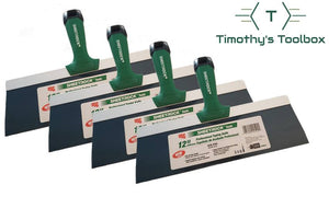 "USG Sheetrock 12"" Blue Steel Professional Drywall Taping Knife (Set of 4) - Timothy's Toolbox"