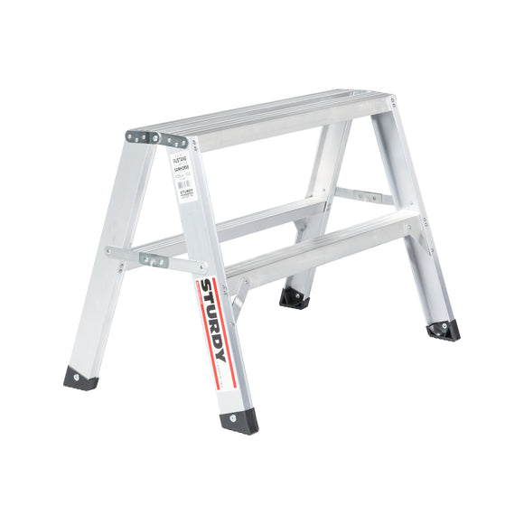 Sturdy Ladders 130 Series Aluminum Sawhorse Ladder Mustang 300 lb Rated  - 2' - Timothy's Toolbox