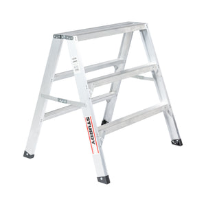 Sturdy Ladders 130 Series Aluminum Sawhorse Ladder Mustang 300 lb Rated  - 3' - Timothy's Toolbox