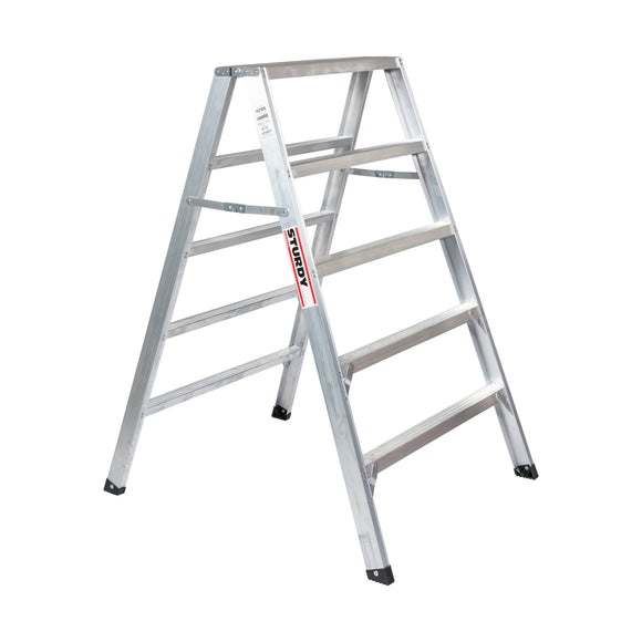 Sturdy Ladders 130 Series Aluminum Sawhorse Ladder Mustang 300 lb Rated  - 5' - Timothy's Toolbox