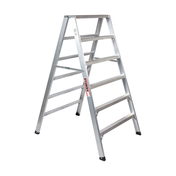Sturdy Ladders 130 Series Aluminum Sawhorse Ladder Mustang 300 lb Rated  - 6' - Timothy's Toolbox