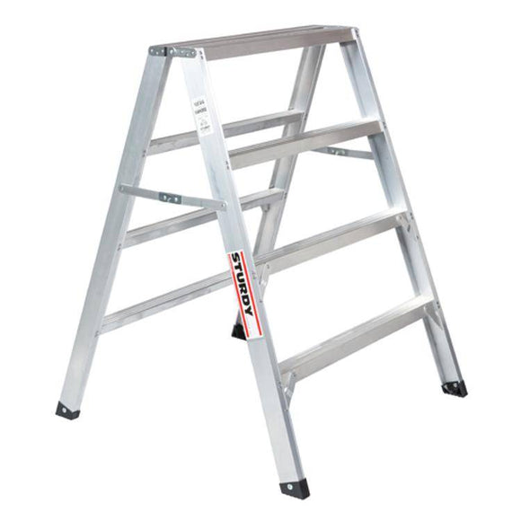 Sturdy Ladders 130 Series Aluminum Sawhorse Ladder Mustang 300 lb Rated  - 4' - Timothy's Toolbox