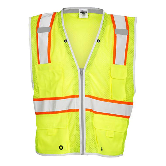 ML Kishigo 1510 Brilliant Series Heavy Duty Class 2 Safety Vest- Yellow/Lime - Timothy's Toolbox
