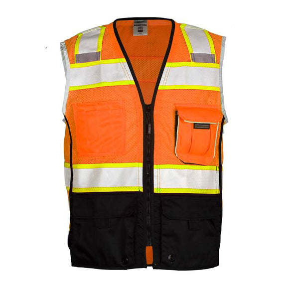 ML Kishigo 1516 Orange Ultra Cool Black Series Black Bottom Vest - Timothy's Toolbox