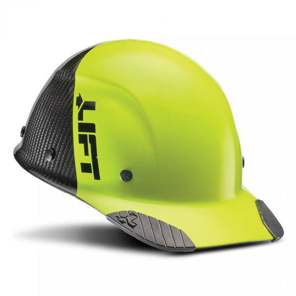 Lift Safety Dax 50/50 Carbon Fiber Cap Hard Hat Yellow-Black HDC50C-19HC - Timothy's Toolbox