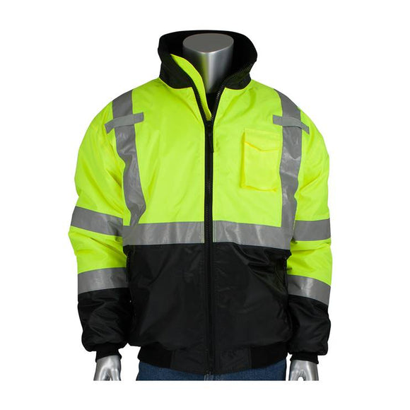 PIP 333-1740 Hi Vis Black Bottom Bomber Jacket with Quilted Liner Type R Class 3 - Timothy's Toolbox