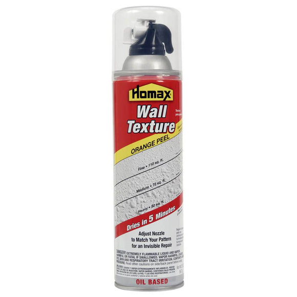 Homax 4055 20oz Oil-Based Wall Orange Peel Texture Spray - Timothy's Toolbox