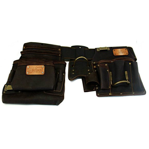 Ox Pro OX-P263804 4-Piece Oil-Tanned Leather Drywaller's Rig - Timothy's Toolbox