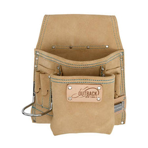 OX Tools Trade 8-Pocket Tool/Fastener Pouch, Suede Leather OX-T263908 - Timothy's Toolbox