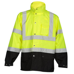 ML Kishigo Yellow RWJ102 Storm Cover Class 3 Rainwear Jacket - Timothy's Toolbox