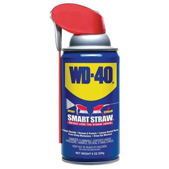 WD-40 8 oz. Aerosol Lubricant with Smart Straw