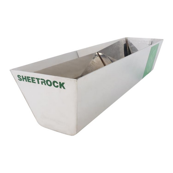 USG Sheetrock Tools Classic Stainless Steel Mud Pan 14