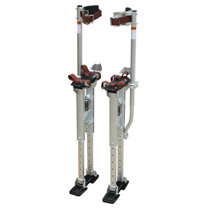 Contractor Plus Professional Dual Spring Aluminum Drywall Stilts 18-30'' - Timothy's Toolbox