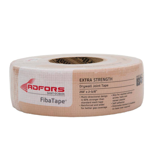 Saint-Gobain FibaTape Extra Strength Self Adhesive Drywall Mesh Tape 2 3/8
