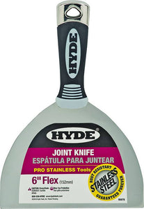 "HYDE 06878 Flexible Pro Stainless Drywall Putty Knife 6"" - Timothy's Toolbox"