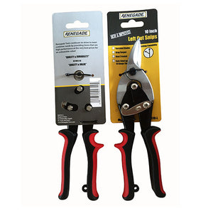 "Renegade 10"" Left Cut Aviation Snips - Red - Timothy's Toolbox"