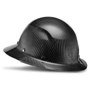 Lift Safety HDC-15KG Dax Carbon Fiber Full Brim Hard Hat- Gloss Black - Timothy's Toolbox