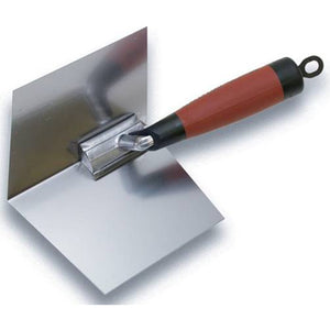 "Marshalltown 24D Thin Coat Inside Corner Trowel with DuraSoft Handle - 5"" X 3 3/4"" - Timothy's Toolbox"