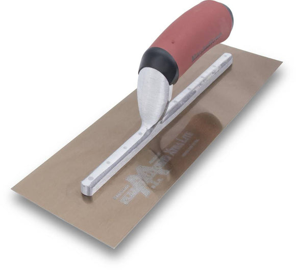 Marshalltown Golden Stainless Steel Finishing Trowel with DuraSoft Handle -14