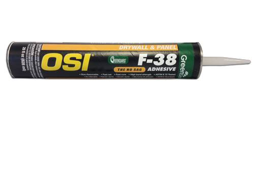 OSI F-38 Green Series Drywall Panel Latex Based Adhesive 28 Oz - Timothy's Toolbox