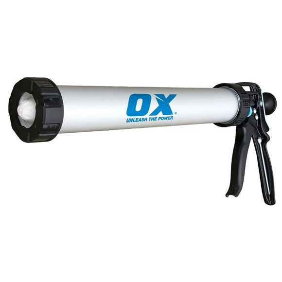Ox Tools OX-P043120 Pro Sausage Gun 20oz, 12:1 Thrust Ratio - Timothy's Toolbox