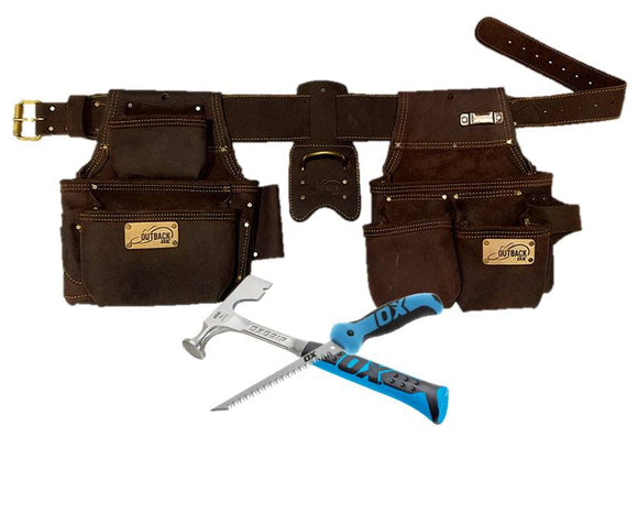 Ox Pro Series Complete Leather Drywall 4 Piece Tool Rig Promo- FREE JAB SAW AND DRYWALL HAMMER - Timothy's Toolbox