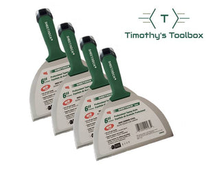 USG Sheetrock 6'' Carbon Steel Professional Drywall Taping Knife (Pack of 4) - Timothy's Toolbox